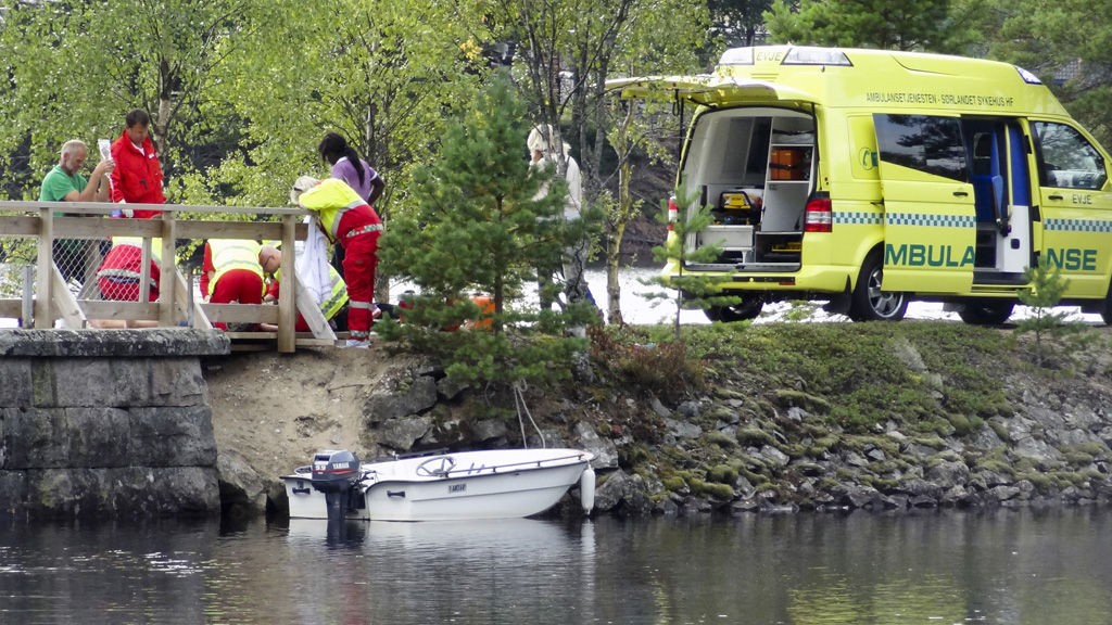 i jente på elleve år omkom i en båtulykke sør på Byglandsfjorden i Aust-Agder tirsdag ettermiddag. Elleveåringen slo hodet i brukaret på den gamle jernbanebrua sør for Byglandsfjord sentrum da båten var på vei under brua.