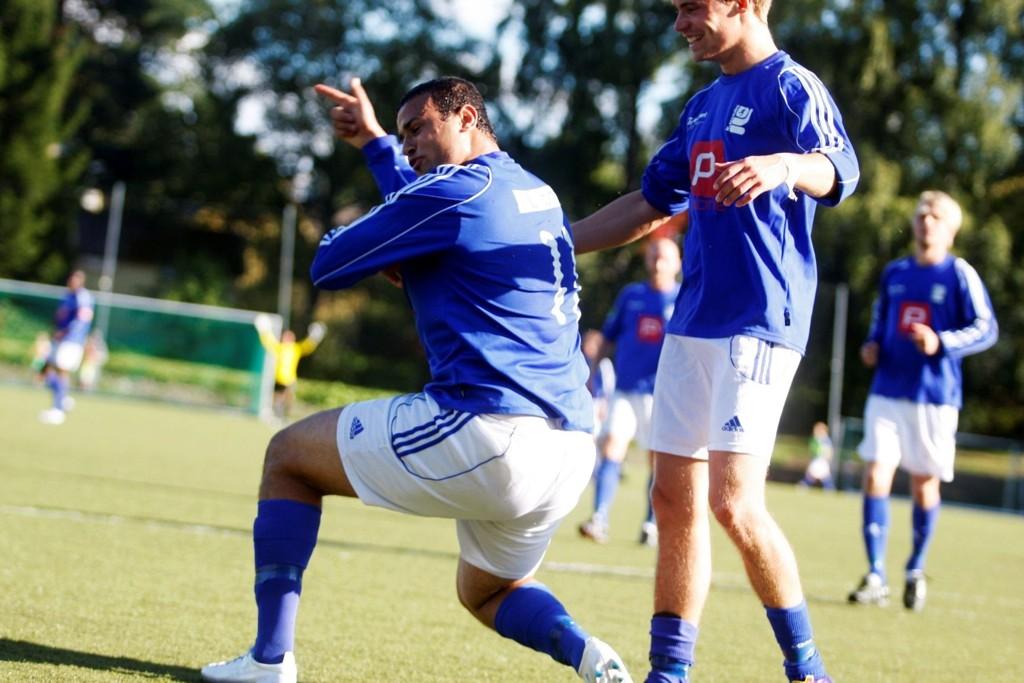 TOPPSCORER: Karim Aoudia avgjorde kampen etter å ha scoret på straffespark.