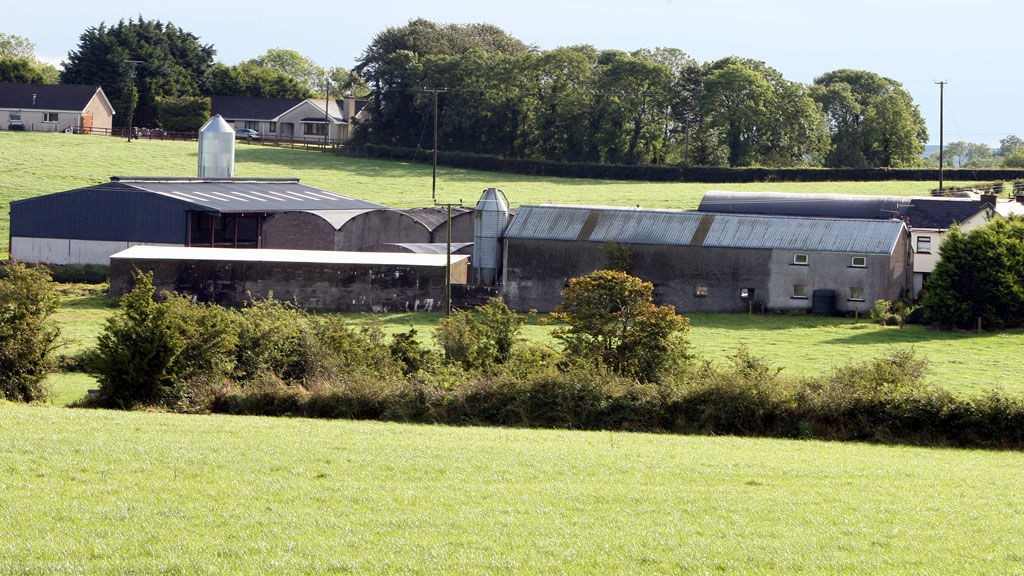 The farm on the outskirts of Hillsborough Co Down, where young rugby star Nevin Spence died alongside his brother and his father when they fell into a slurry tank.