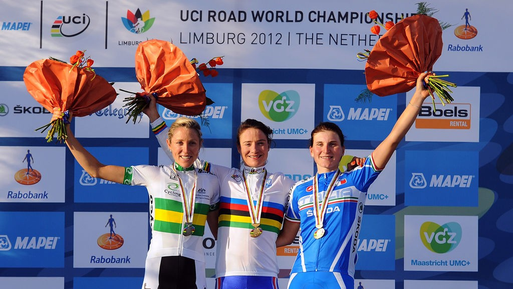 MEDALJE-LAGET: Både sølvvinner Rachel Neylan (t.v) og Elisa Longo Borghini (t.h), som tok bronse, skal kjøre på Hitec-laget til neste år.