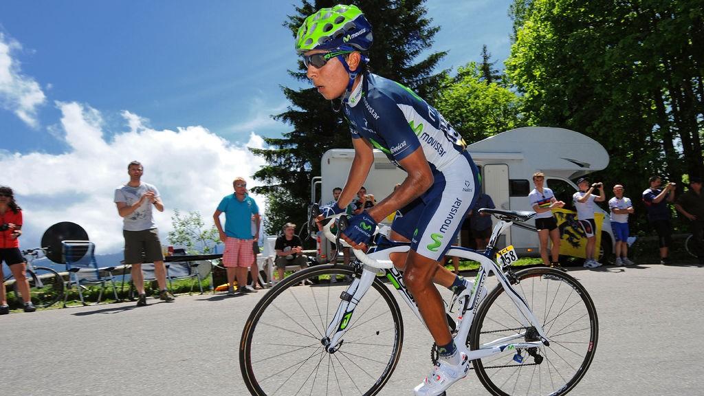 TALENT: Ny kolombiansk seier i Giro dell'Emilia. Movistar-rytteren Nairo Quintana vant i ensom majestet.