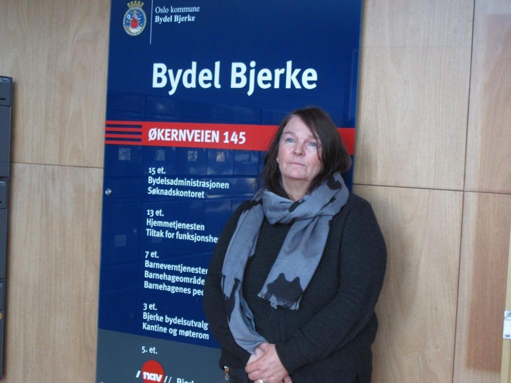 """FLERE TRUSLER: Resultatsjef Bente Aldrin i Bydel Bjerke vil ikke kommentere anmeldelsen, men forteller at grove trusler er """"hverdagskost"""" for de ansatte på NAV-kontoret."""