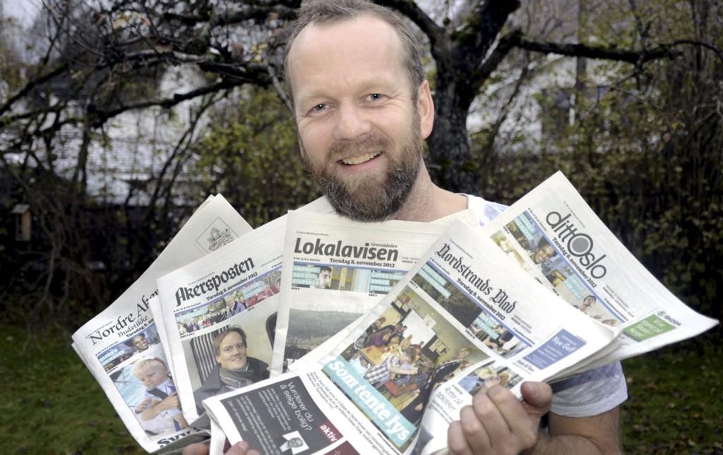 DESIGNFREMSKRITT: Øyvind Kristiansen har tung bakgrunn som desksjef og redaktør i blant annet VG og Se og Hør. Nå triller han terningen over Mediehuset dittOslos papiraviser.