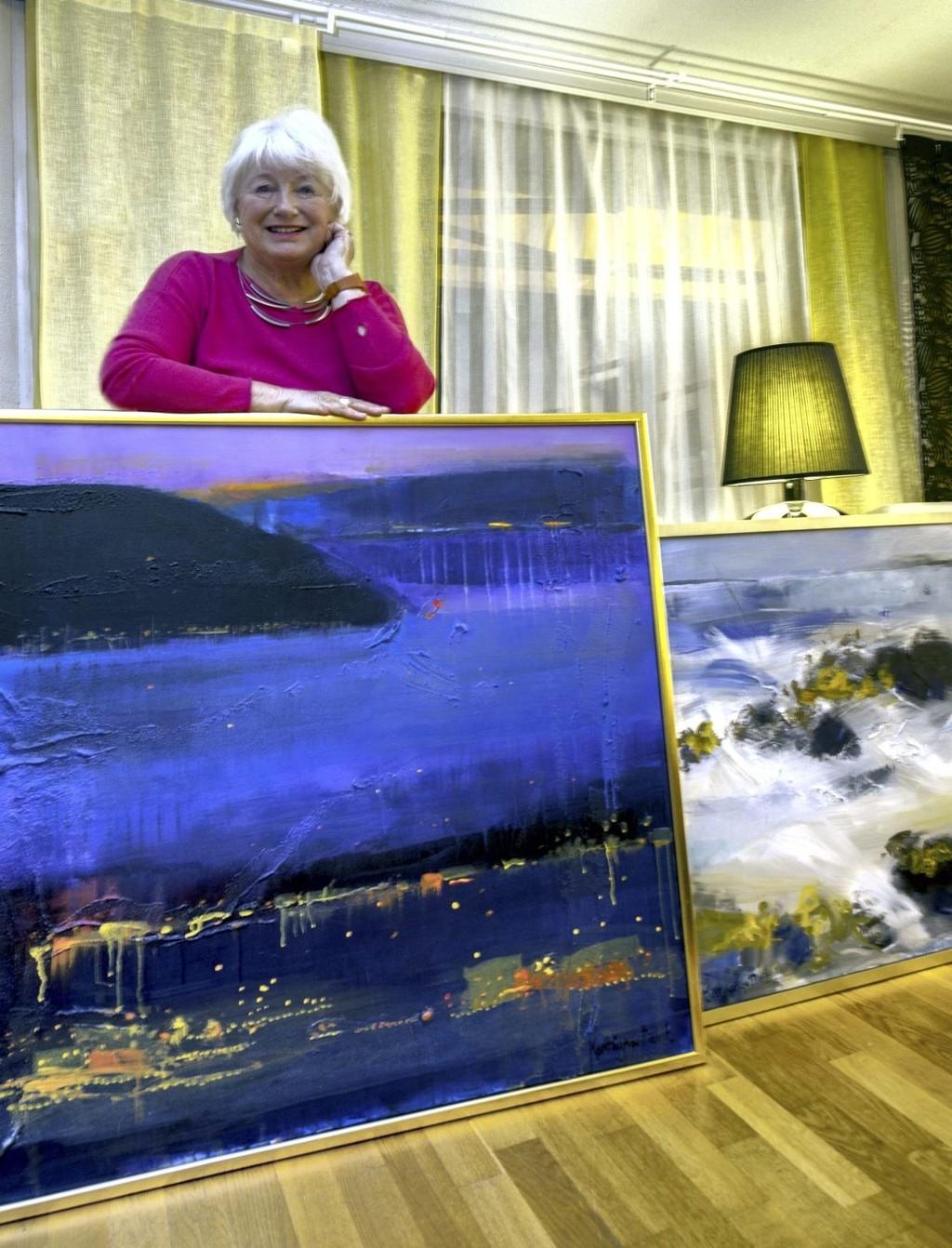 MED PÅ ALLE: Marit Lange Davik er valgt ut til årets kunstner på Nordstrand Lions sin utstilling. FOTO: PRIVAT