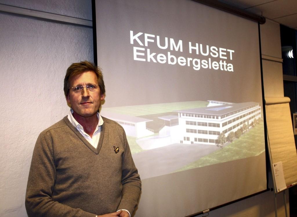 VIL BYGGE DRØMMEN PÅ EKEBERG: Vegard Kobberdal i KFUM la frem planene for bydelsutvalget, men fikk blankt avslag. Foto: Aina Moberg