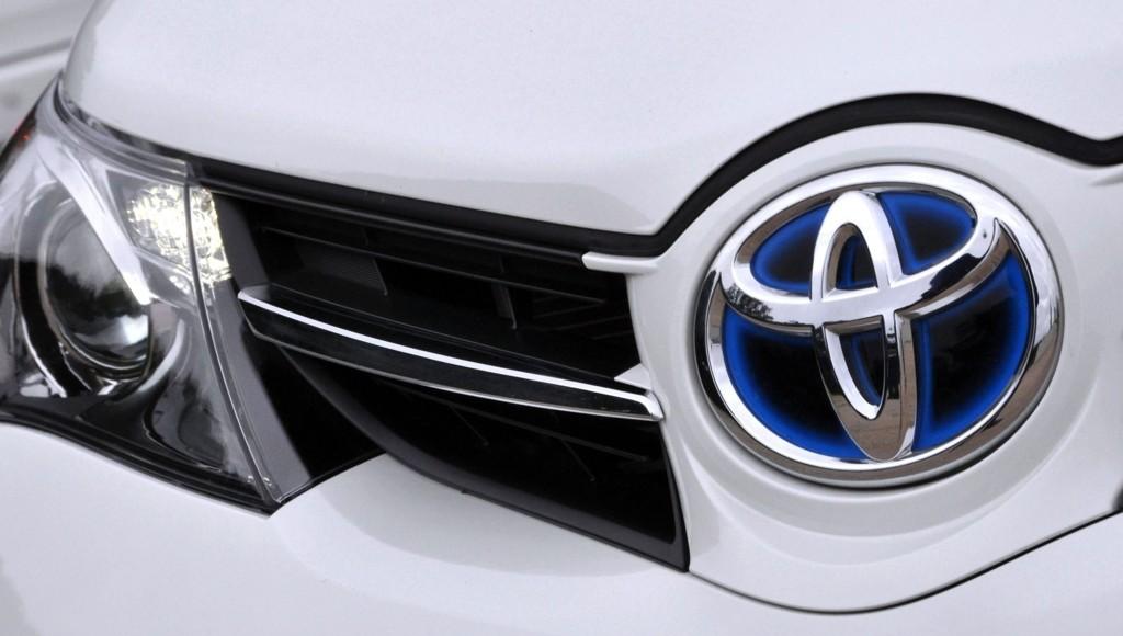 Grillen som preger nesten alle Toyotas modeller i Europa.