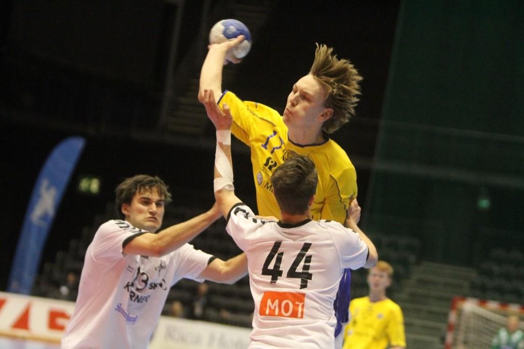 TOPPSCORER: Oskar Olafsson ble toppscorer med sine syv mål i NM-finalen mot Stord.