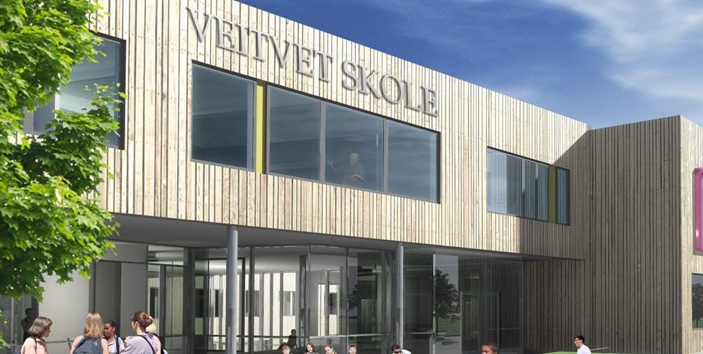 NY SKOLE: Nye Veitvet skole skal stå ferdig 2015. Den vil da romme 841 elever.