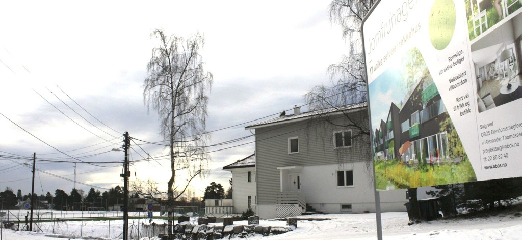 RIFT: Nesten halvparten av rekkehusene i Jomfruhagen er solgt. Nå planlegges byggestart til våren/sommeren.
