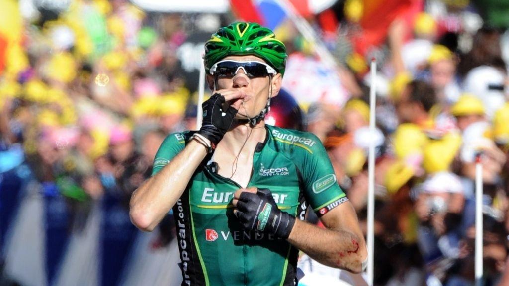 VIL PÅ PALLEN: Franske Pierre Rolland setter seg hårete mål for Tour de France 2013.