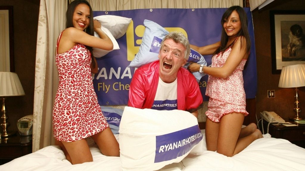 BILLIGFLYKONGEN: Ryanair's Michael O'Leary satser på billighotell