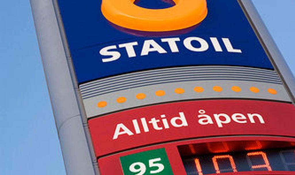 UTFORDRING: Betjeningen på Statoil Bjerke fikk en ekstra utfordring onsdag.