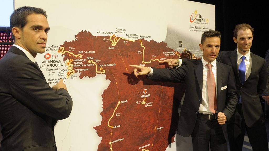 SPANSK SMERTEPRØVE: De tre beste fra i fjor, Alberto Contador, Joaquim Rodrigez og Alejandro Valverde sier alle at Vuelta a Espana 2013 blir hardt.