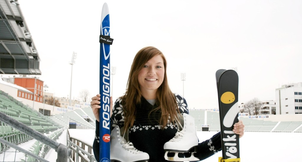 GRATIS: Sunniva Sved Johnson har vært med siden starten, og låner gladelig ut sportsutstyr.