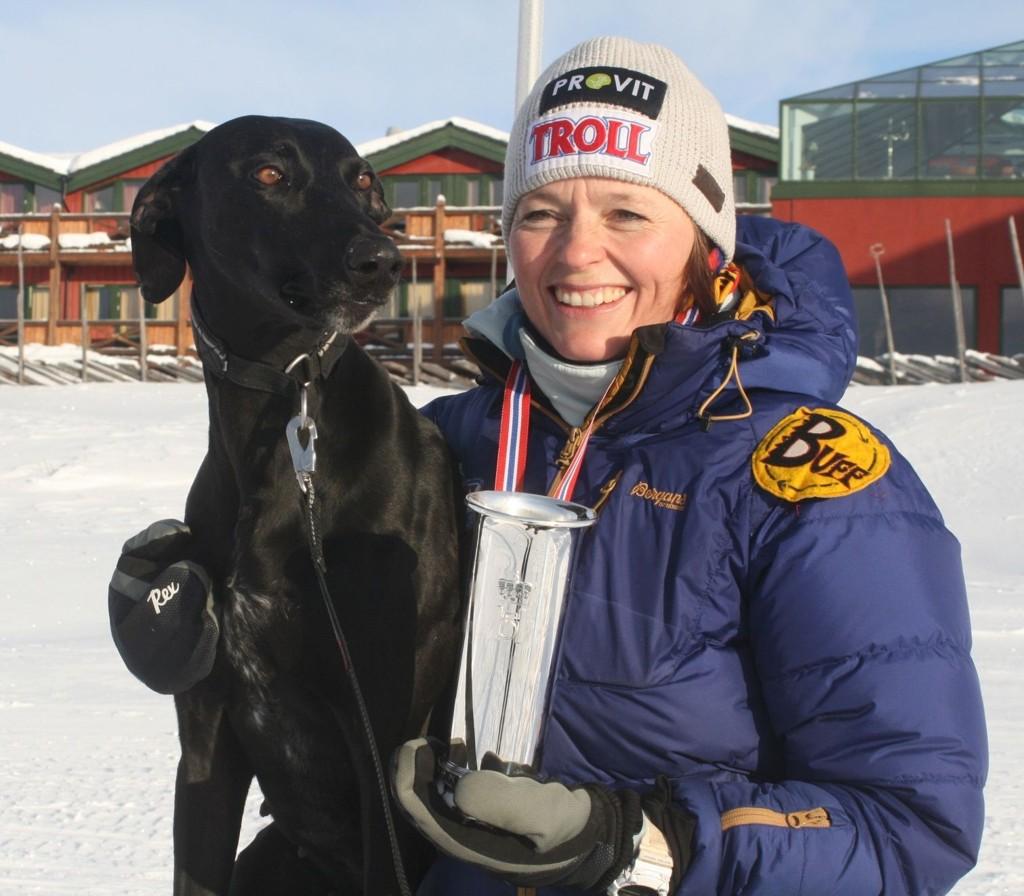 Lena Boysen Hillestad fra Holmenkollen Sportsklubb ble vinner av Kongepokalen i 4-spann sprint.