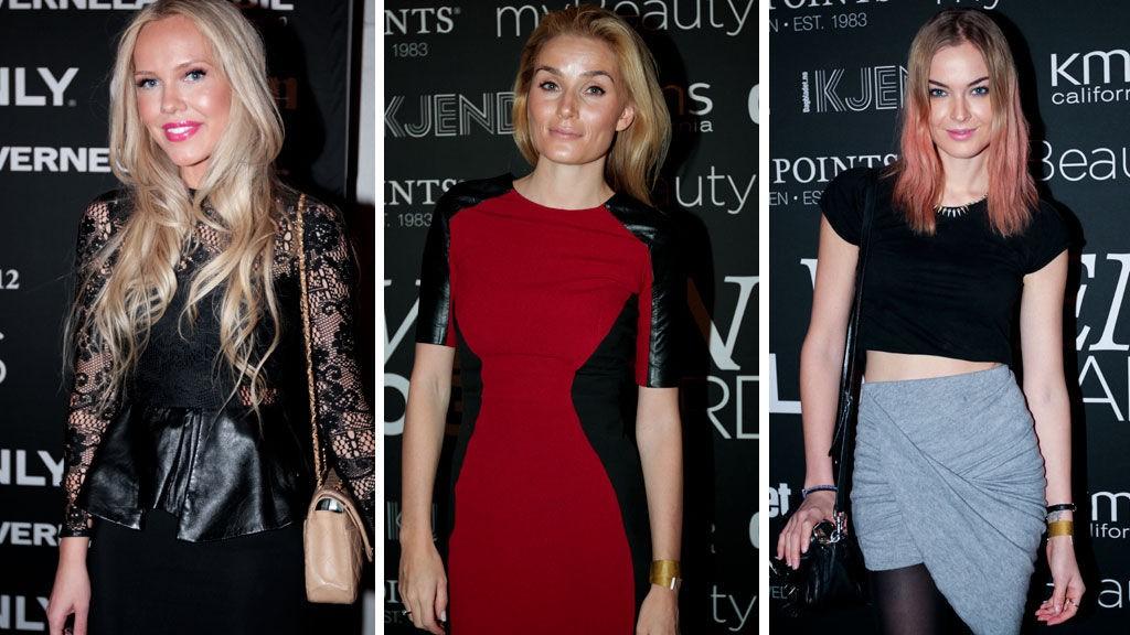 PÅ RØD LØPER: Cathrine Heienberg, Camilla Pihl og Charlotte Thorstvedt. Både Heienberg og Pihl var nominert til priser, og Pihl var «superspent» før utdelingen.