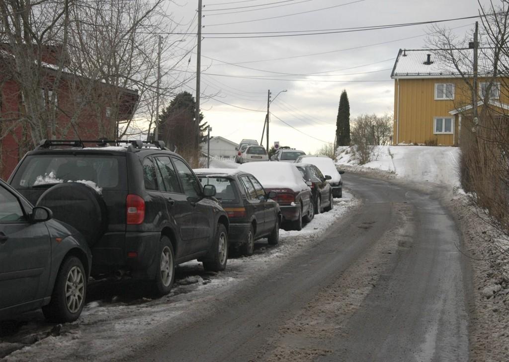 OPPSALVEIEN: En av bydelens problemveier. FOTO: NSO