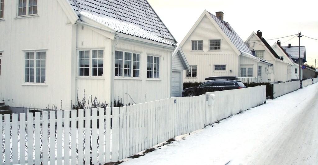 VINTER: Ekeberg Hageby slik den er ut en kald vinterdag i 2013.