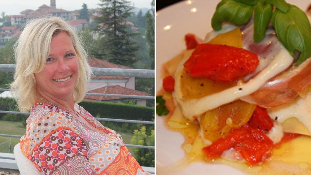 ITALOFIL: Både Italia som land og dets kjøkken er noe som ligger Ingebjørgs hjerte nært. Her er hun i Piemonte, som de ofte drar innom når de er på ferie i landet.