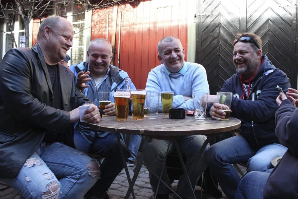 IVRIGE: Steinar Halvorsen, Roger Folke Olsen, Petter Eliassen og Tom Johannessen har sterke meninger om Oslofotballen.