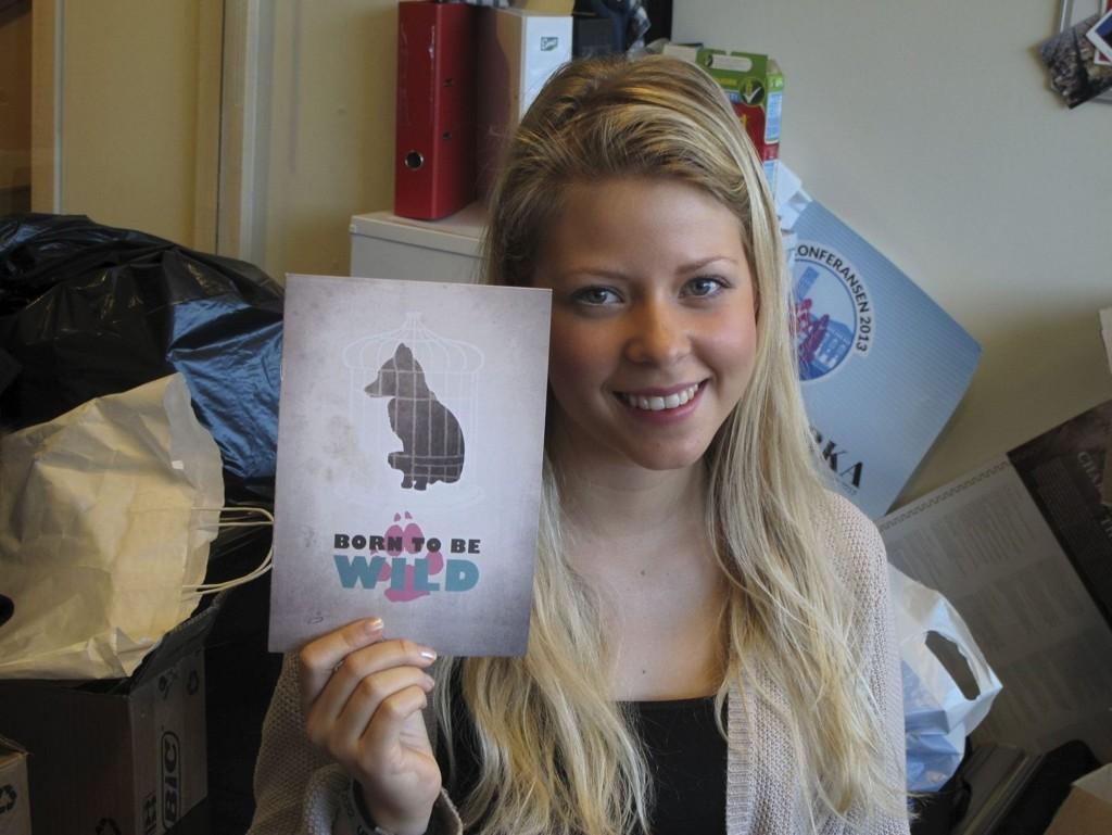 Til kamp for dyrene - igjen: Styremedlem Alva Eide i Oslo Unge Venstre vil kjempe videre for en egen politienhet for dyrevernssaker. Nå kvesser hun klørne og spisser informasjonen foran høstens valgkamp.foto: Cathrine Brynildsen