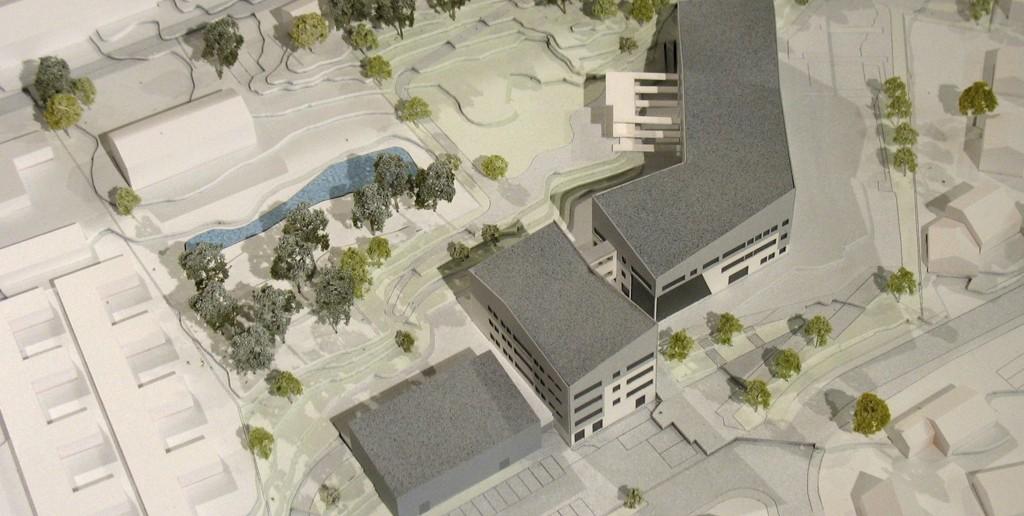MUNKERUD SKOLE: Slik skal skolen se ut når den står ferdig i 2016. Oslo kommune søker nå etter entreprenører til å bygge nye Munkerud skole, en entreprise til en verdi av 200 millioner kroner. Illustrasjon: Undervisningsbygg