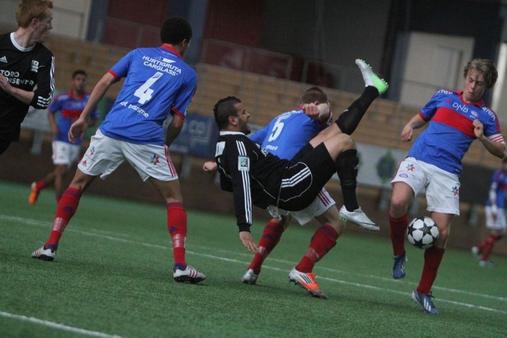 NYTT TAP: Karim Aoudia scoret Kjelsås´ mål, men lqaget ble poengløse etter tap for Vålerengas reserver.