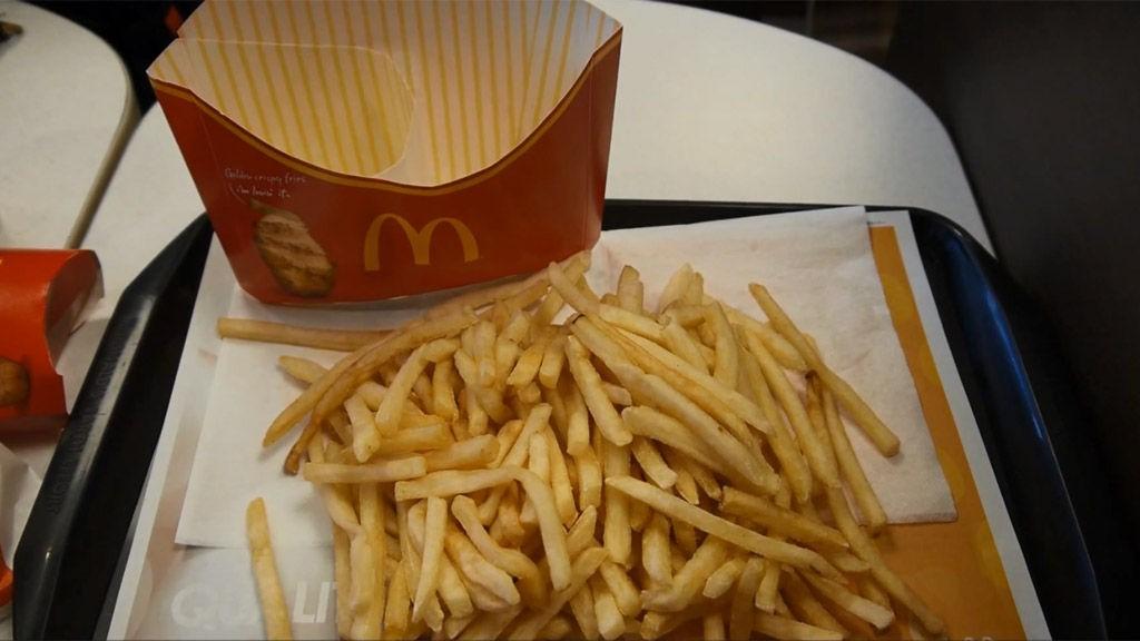 kalorier pommes frites mcdonalds