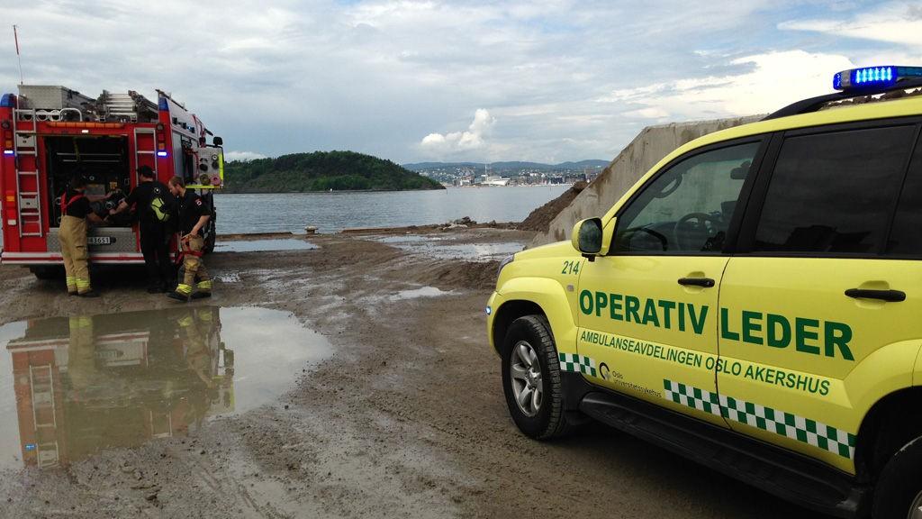 En mann er kjørt til Ullevål sykehus med hodeskade etter en arbeidsulykke ved Sjursøya i Oslo.