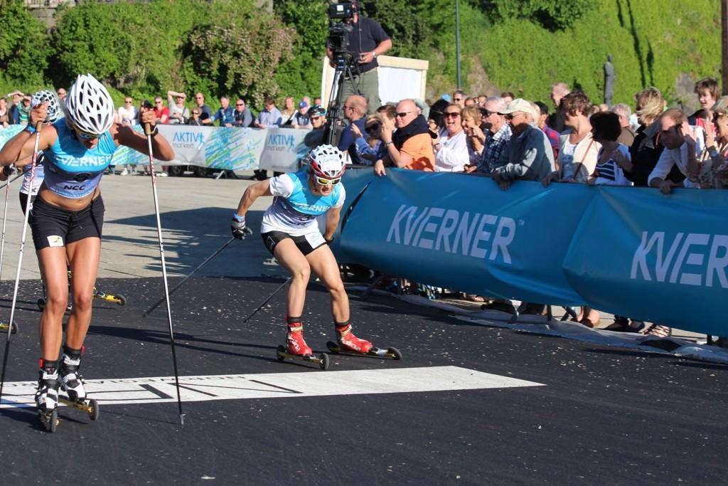 SEIER: Langrennssprinteren Maiken Caspersen Falla var fornøyd med seieren i Oslo Skishow.
