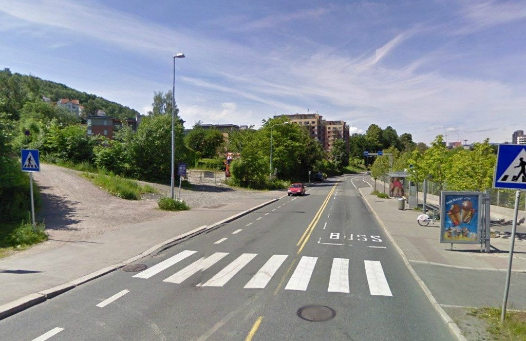 Fra grått til grønt: Her kan det bli park om noen år. Foto: Google