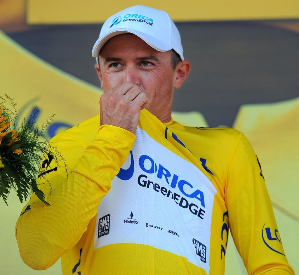 SLU KENGURU Mandag vant Simon Gerrans etappen til Calvi - tirsdag vant han den gule trøyen.
