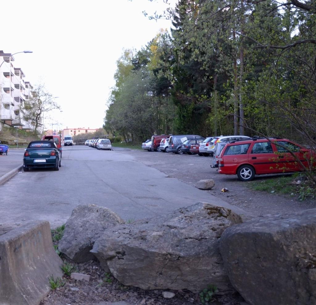 OMSTRIDT: I skogen her i Vetlandsveien kan det bli parkeringsplass. Arkivfoto: Nina S. Olsen