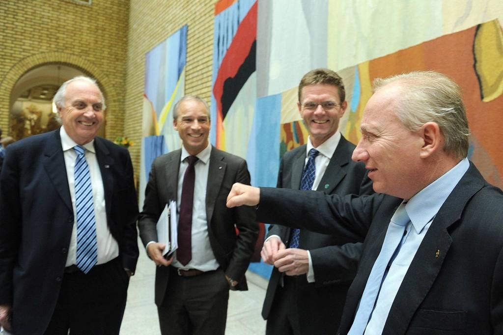 Stortingsrepresentantene Svein Flåtten, Hans Olav Syversen, Terje Breivik og Gjermund Hagesæter vil sørge for at det ikke blir noen økt boligskatt.