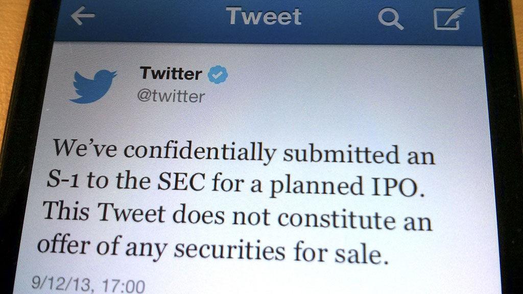 Mikrobloggtjenesten Twitter går på børs og legger ut 70 millioner aksjer.