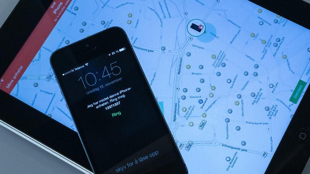 fjerne logg fra iphone
