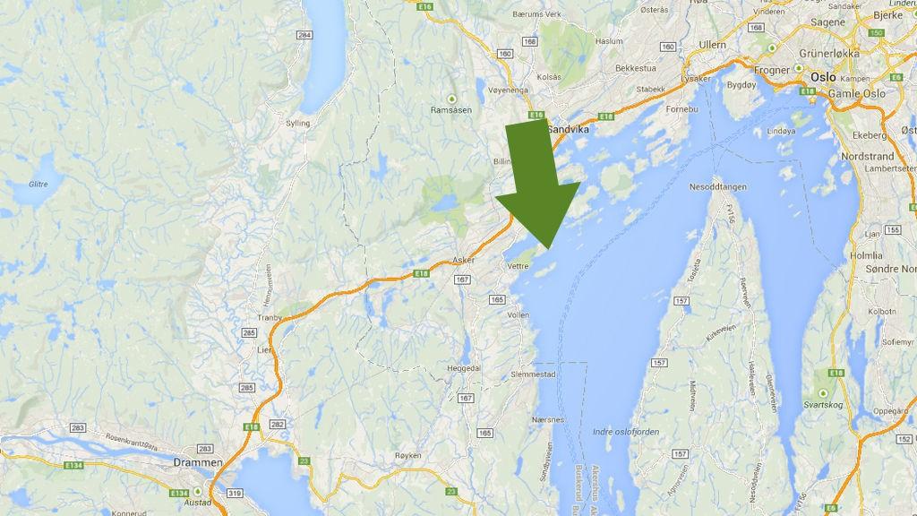 KANTRET: Mannen skal ha kantret mellom Vettrebukta og Bjerkøya torsdag.