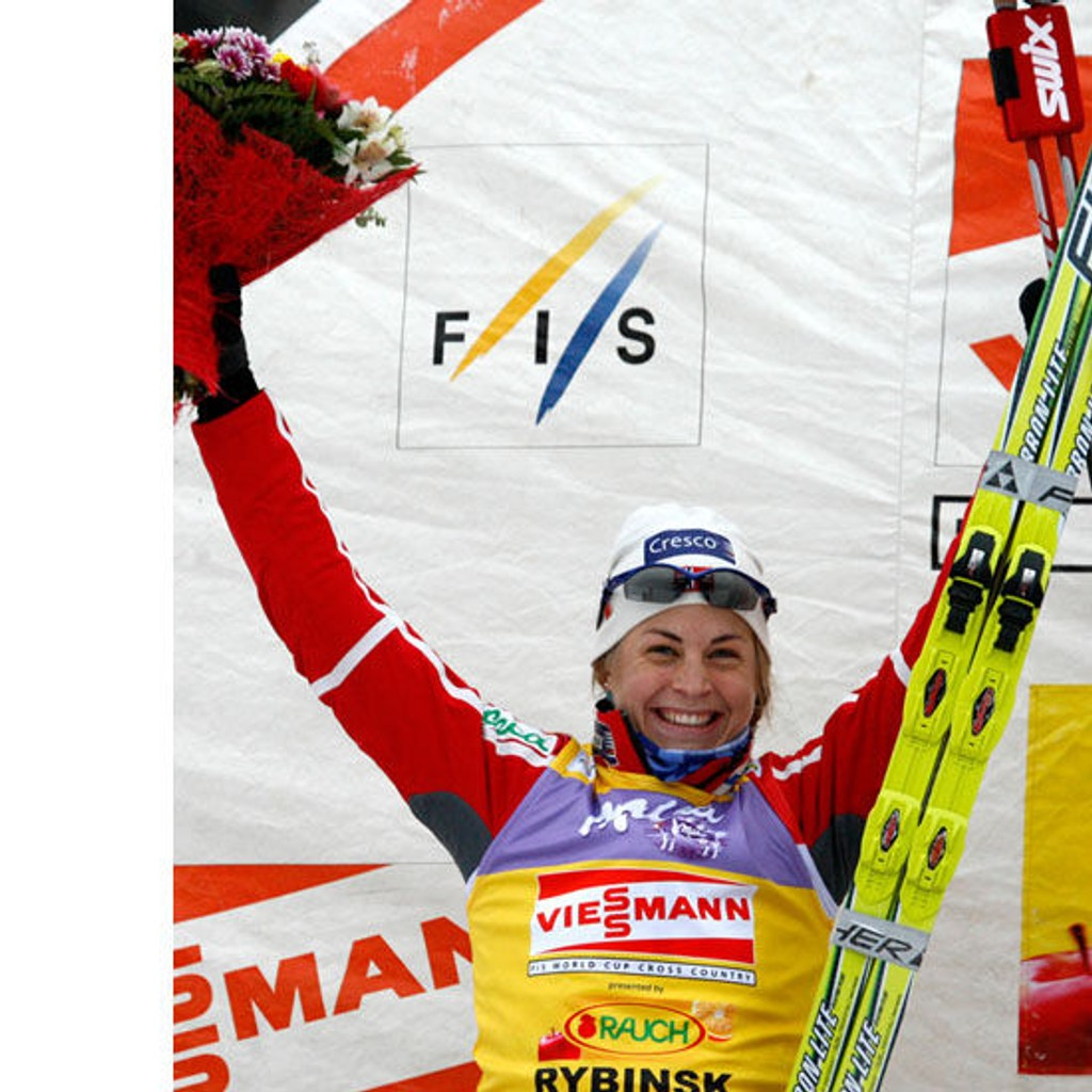 Astrid Uhrenholdt Jacobsen tok seieren i 15-kilometeren fredag, og leder Tour de Ski sammenlagt. Her fra en tidligere anledning.