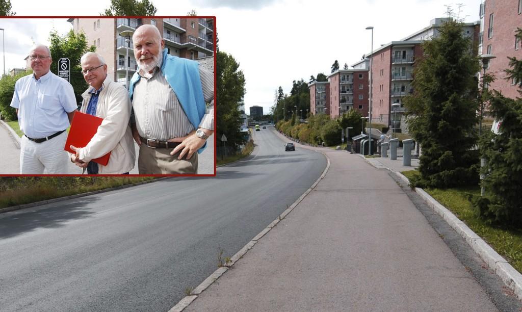 Styreformann Erik Rekdal (t.v.) og styremedlemmene Per Sevendal og Oddmund Hammerstad i Sogn Terrasse Boligsameie kjemper videre.