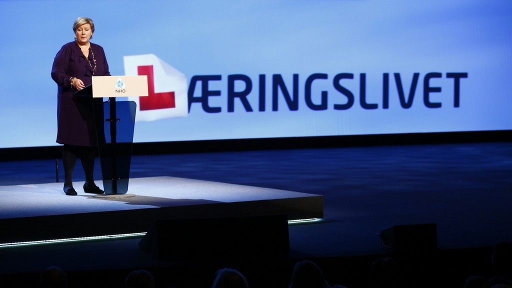 Erna Solberg NHO Årskonferanse januar 2014