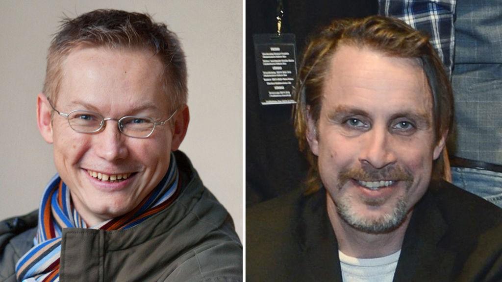 BLE TATT TIL FANGE: Magnus Falkehed (til venstre ) og fotograf Niclas Hammarstrom på arkivfoto.