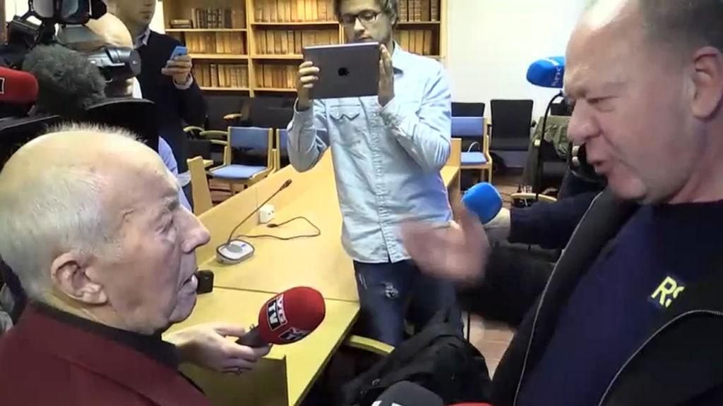KRAFTIG SALVE: Arne Pedersen brøt inn i et intervju med Redningsselskapets Arild Braathen. Dermed ble det debatt direkte på Nordlys TV.