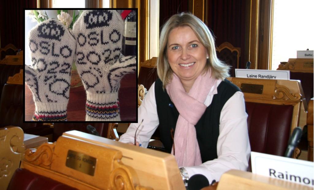 Tidligere finansbyråd i Oslo, Kristin Vinje (H) flyttet inn på Stortinget etter valget i fjor høst. Nå har hun Oslo-OL-vottene (innfelt) klare.