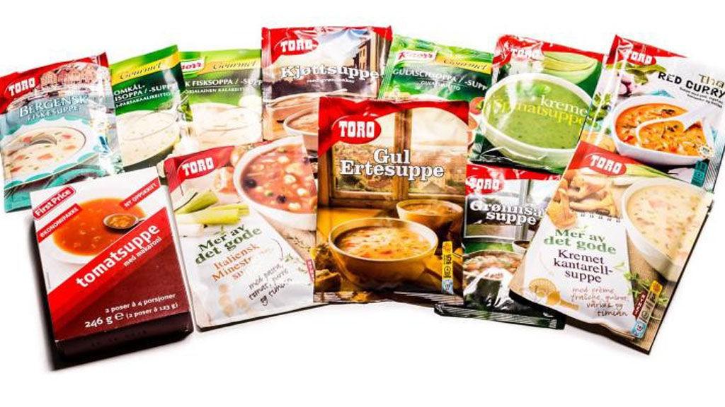 TESTET SUPPEPOSER: Vi har sunnhetstestet 12 ulike typer frysetørret suppe, bedre kjent som posesuppe.
