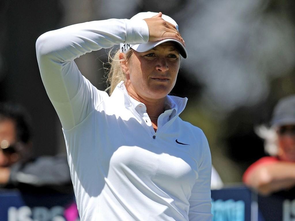 SPRAKK: Suzann Pettersen feilet fullstendig i Australian Open.