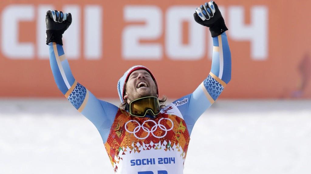 GULLVINNER: Kjetil Jansrud vant søndagens super-G-renn i Sotsji. (AP Photo/Gero Breloer)