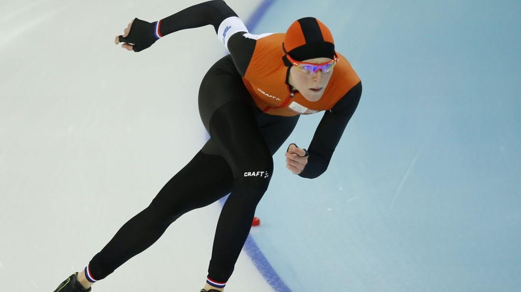 STORESLEM: Nederland tar storeslem i skøytehallen i Sotsji.