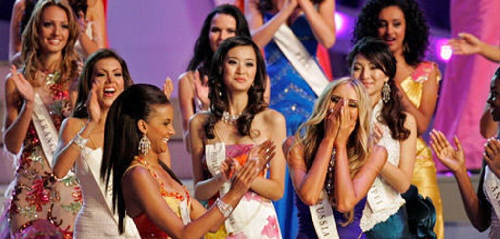 TØFF KONKURRANSE: Det hjelper ikke bare å ha et vakkert utseende for å komme til topps i misse-konkurransene.