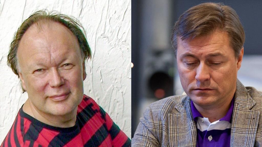 TÅLMODIGHETEN ER SLUTT: Nå vil Sten Ture Jensen (til venstre) slå Idar Vollvik personlig konkurs.