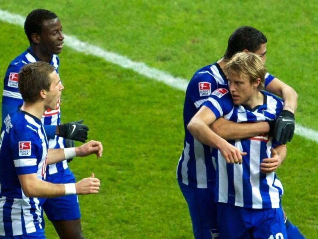 Per Ciljan Skjelbred scoret for Hertha Berlin forrige helg.